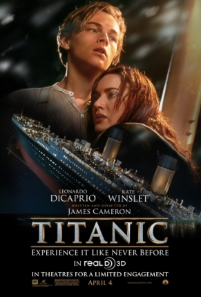 Poster for the 3D Release of James Cameron's 'Titanic'