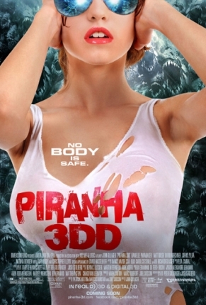 New Poster for 'Piranha 3DD' Surfaces