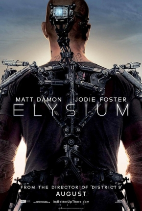 First Look At Elysium Banner, Comic-Con Booth And Bugatti Spaceship Prop