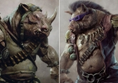 Leo, Donnie, Raph & Mikey Concept Art - TEENAGE MUTANT NINJA TURTLES (2014)