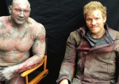 Star-Lord and Drax Take a Beating in 'Guardians of the Galaxy' Set Photo