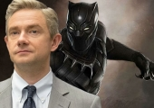 Martin Freeman spotted on the set of Black Panther
