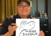 Peter Sohn Draws a Dino in Fun Tease for Pixar's 'The Good Dinosaur'