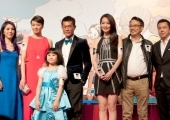 "The cast of ""Aberdeen"" in the opening ceremony of the HKIFF"