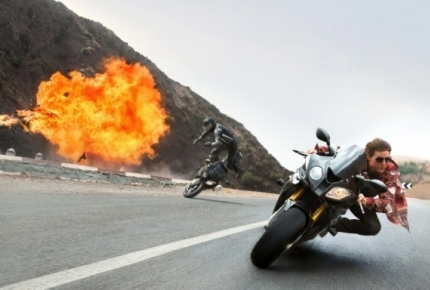"Tom Cruise in ""Mission: Impossible Rogue Nation"""