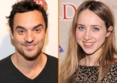 Jake Johnson and Zoe Kazan